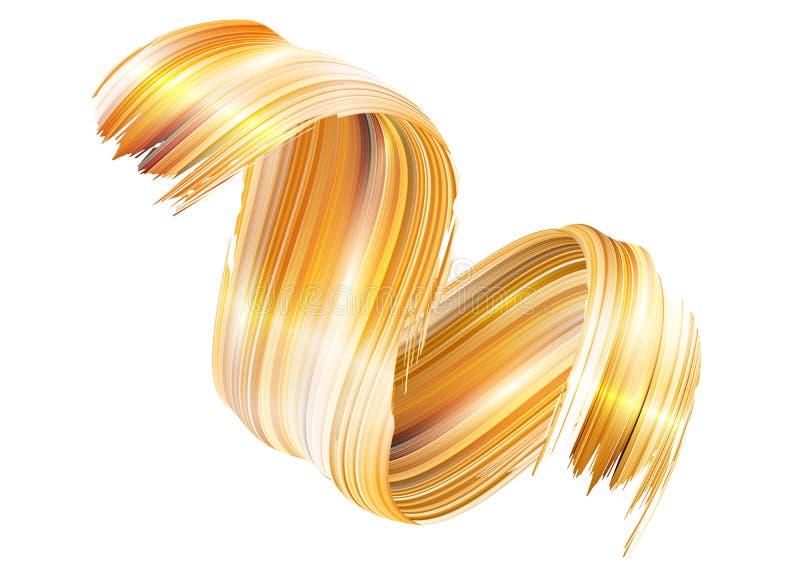 Rizo de la pintura del vector 3D Movimiento espiral abstracto del cepillo ilustración del vector