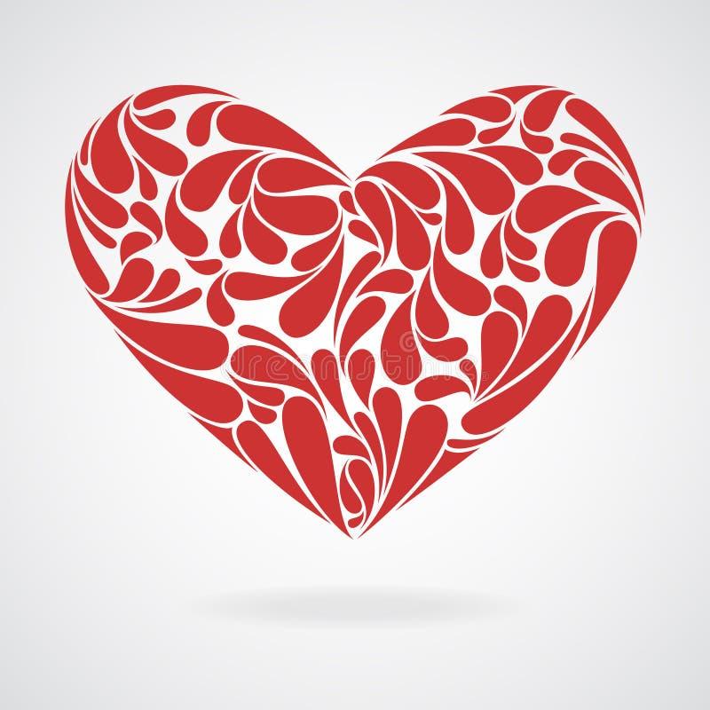 Corazón de rizos. ilustración del vector