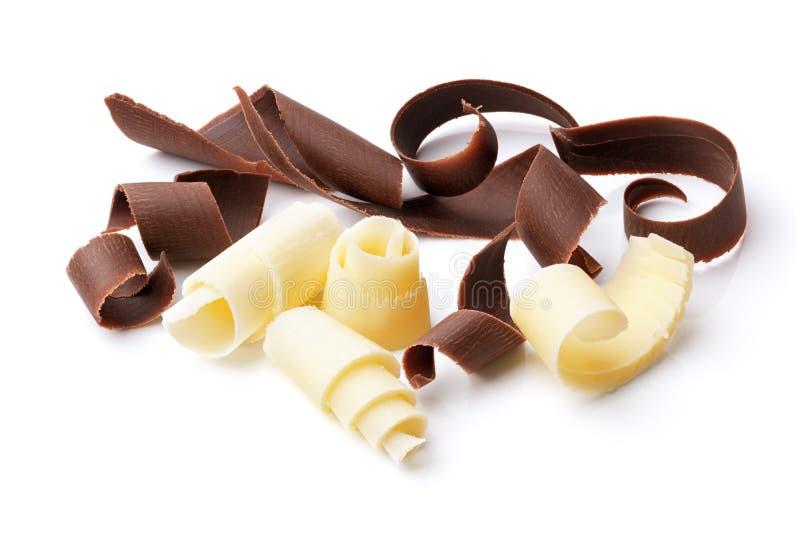 Rizos oscuros y blancos del chocolate fotos de archivo