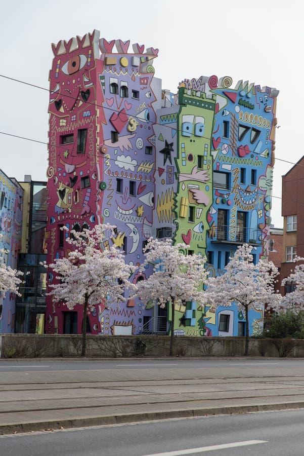 Rizzi-Haus em Bransvique, Alemanha foto de stock