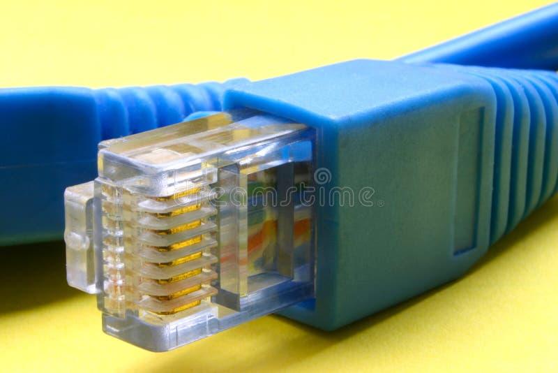 rj кабеля 45 broadband стоковое изображение