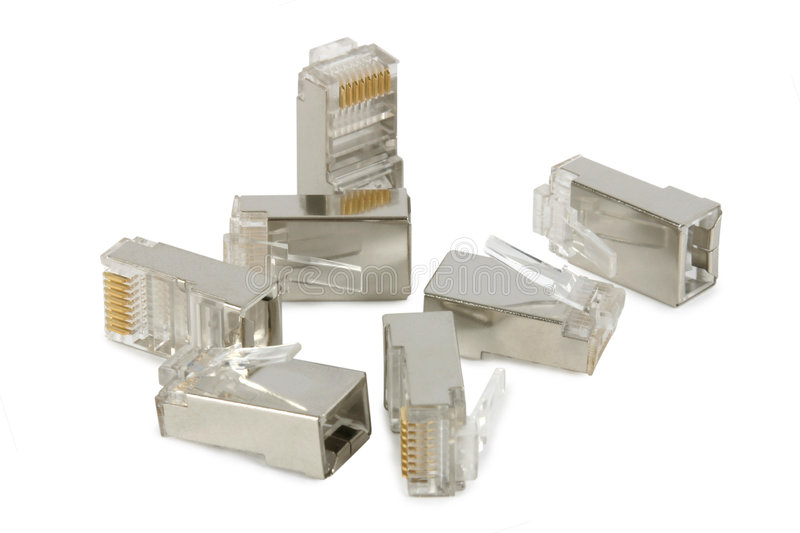 Download RJ-45 Connectors stock image. Image of connectors, plugs - 3241105