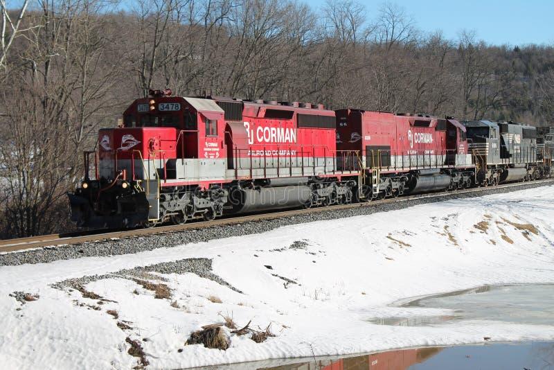 RJ Corman en invierno imagen de archivo libre de regalías
