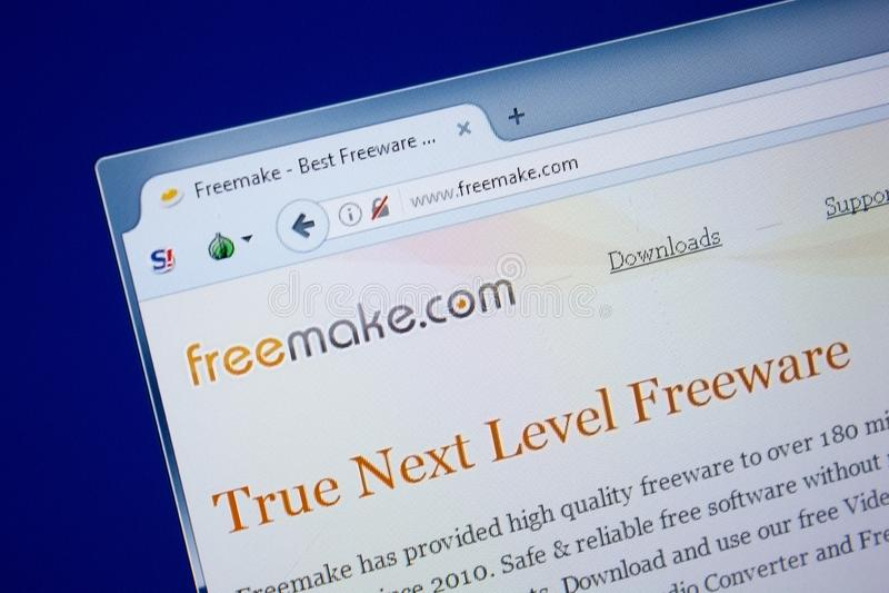 Rjazan', Russia - 9 settembre 2018: Il homepage di libero fa il sito Web sull'esposizione del PC, URL - FreeMake com fotografia stock