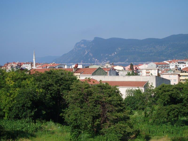 Rk del ¼ de Atatà y x27; montaña del perfil imagen de archivo