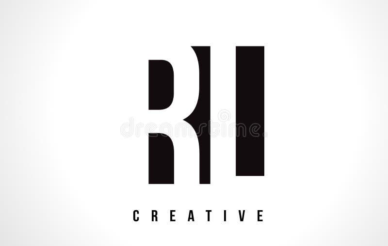 RL R L letra branca Logo Design com quadrado preto ilustração do vetor