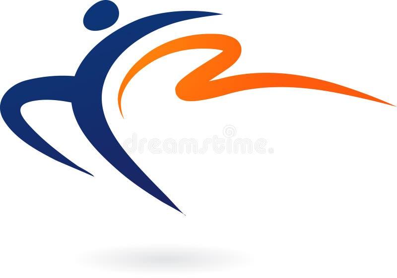 Rlogo del vecto del deporte - gimnasia ilustración del vector