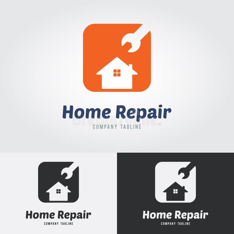RLogomalplaatje van huisrepai Embleem voor Huisreparatiewerkplaats, Huisimpro stock illustratie