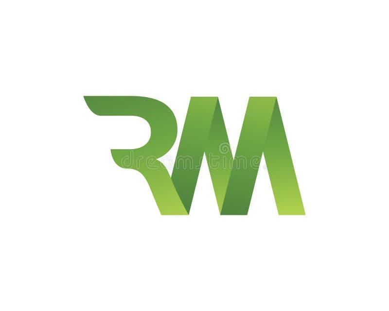 RM λογότυπο επιστολών διανυσματική απεικόνιση