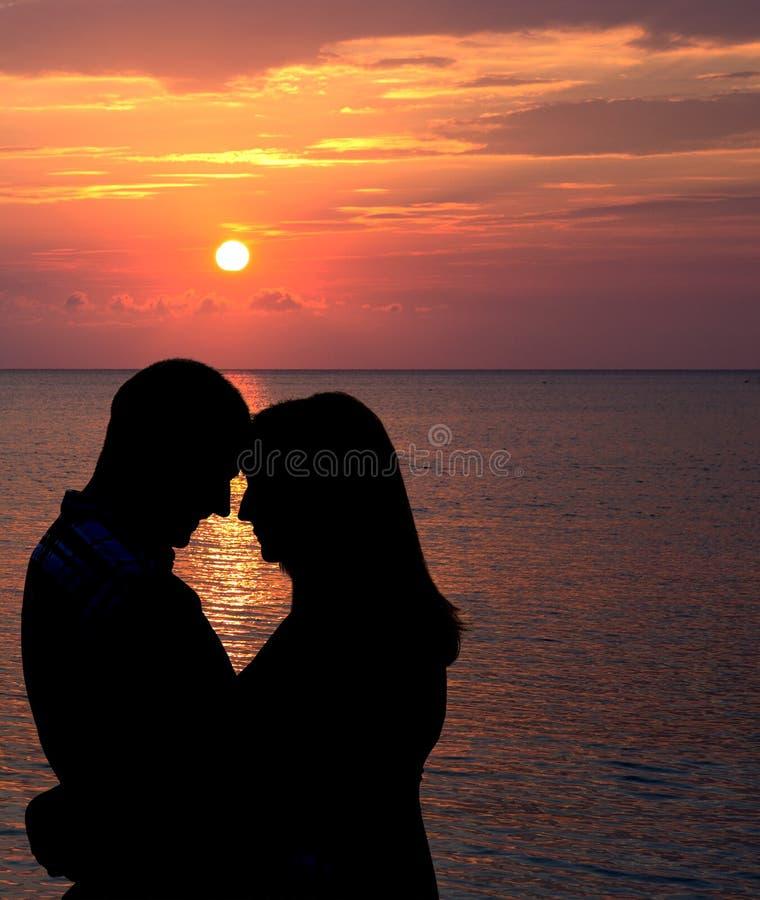 Rmantic-Sonnenuntergang stockfoto
