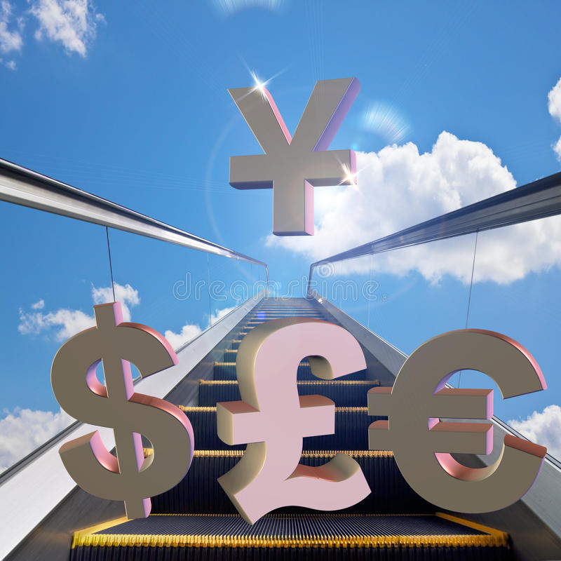 The RMB exchange rate royalty free illustration