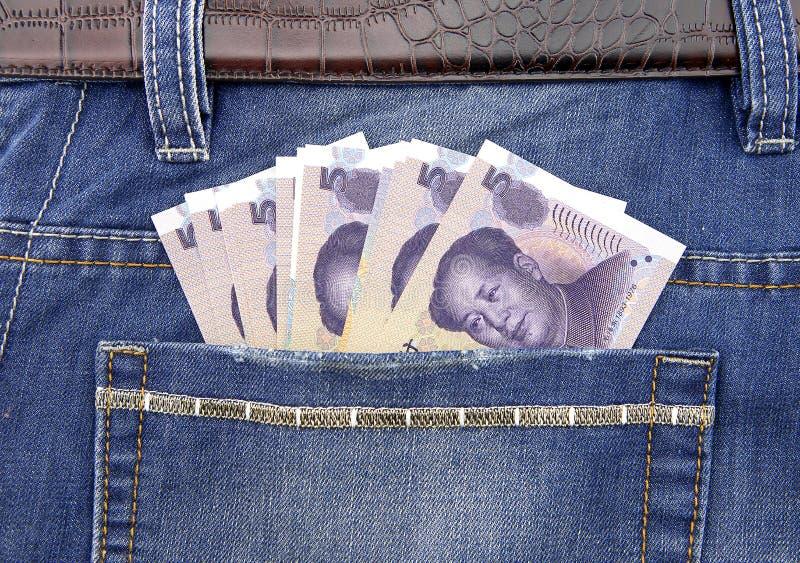 RMB-sedel i fack arkivfoto