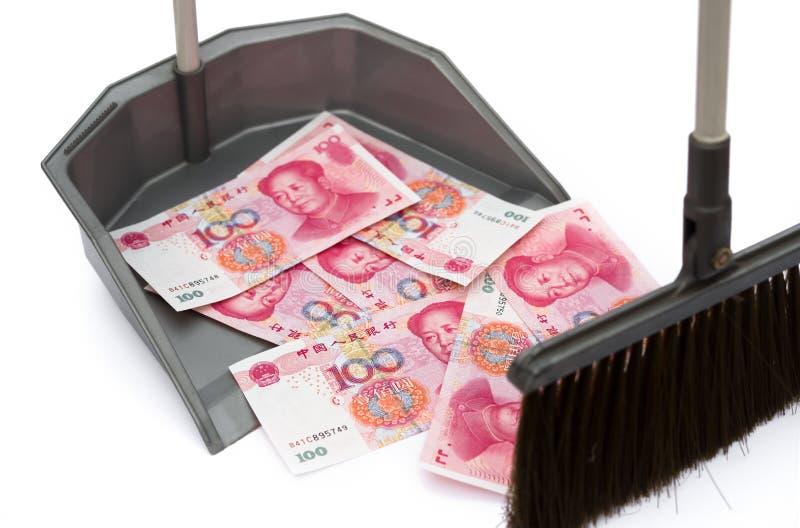 RMB w banialuka koszu zdjęcie royalty free