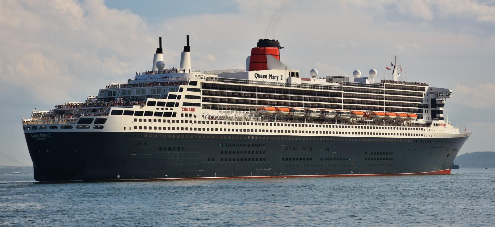 RMS Queen Mary 2 Oceanliner royalty free stock image