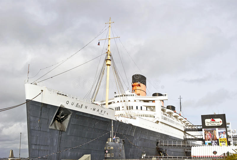 RMS Queen Mary Oceanliner stock images