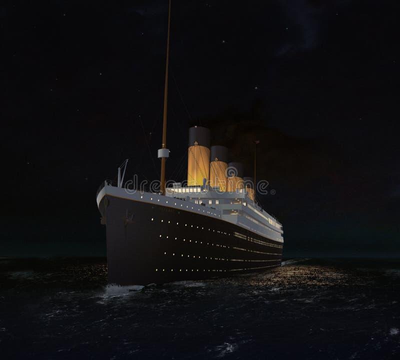 RMS Titanic вчера вечером иллюстрация вектора
