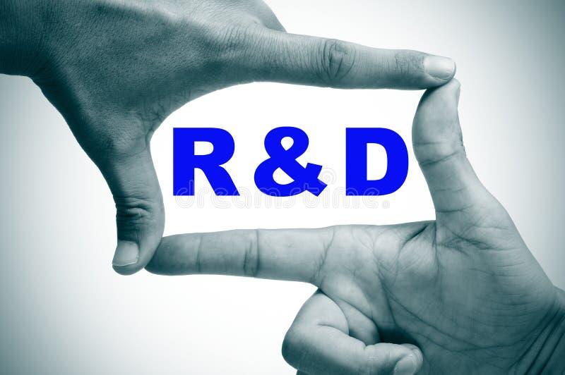 RnD, forskning och utveckling arkivbild