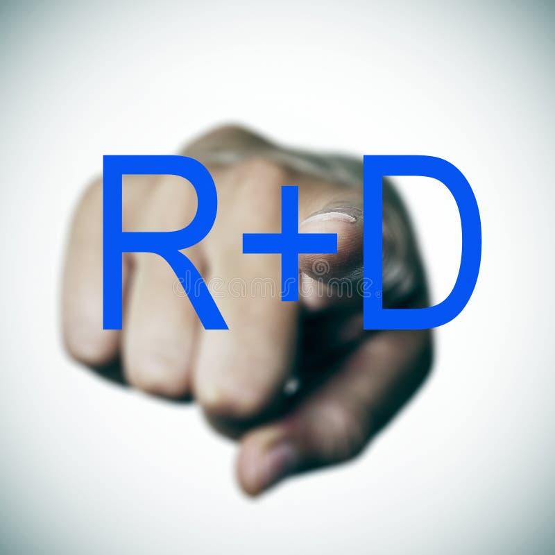 RnD, forskning och utveckling arkivfoto