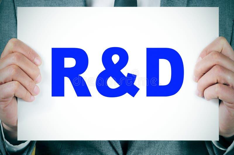 RnD, investigação e desenvolvimento imagem de stock