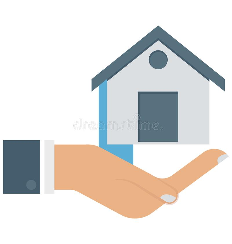 Household, Lawn, House In Hands Isolated Vector Icons can be modify with any Style. RnHousehold, Lawn, House In Hands Isolated Vector Icons can be modify with royalty free illustration
