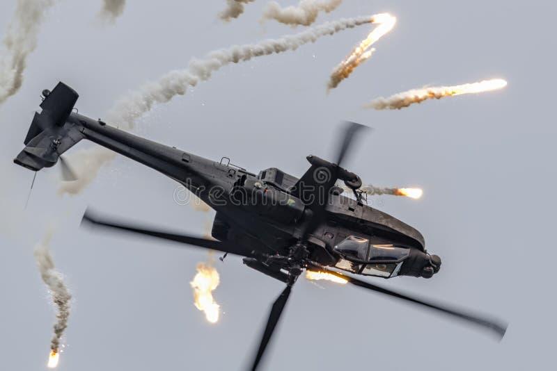 RNLAF ah-64 Apache royalty-vrije stock afbeeldingen