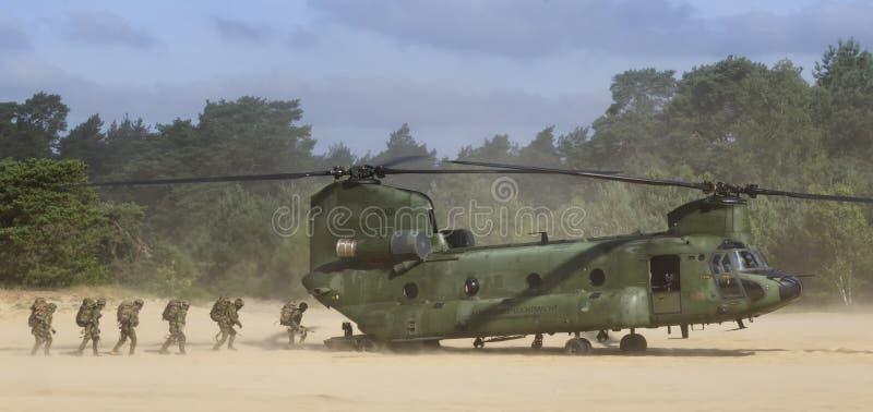 RNLAF Boeing CH-47D Chinook immagine stock libera da diritti