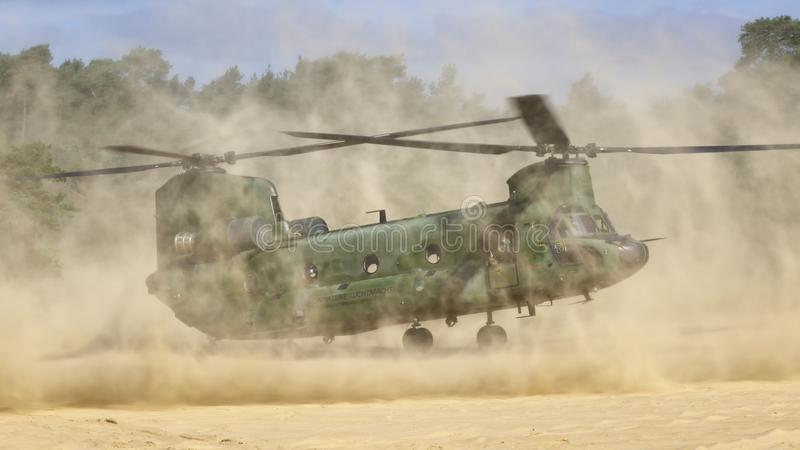 RNLAF Boeing CH-47D Chinook immagine stock