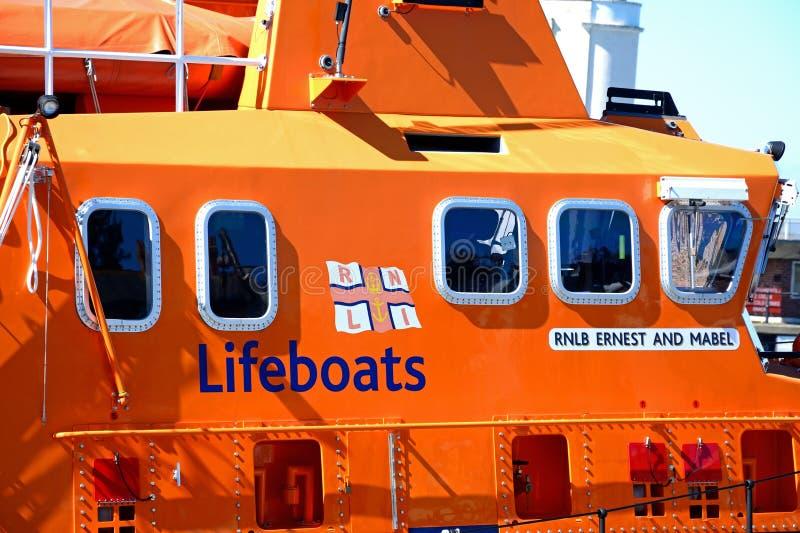 RNLI lifeboat, Weymouth zdjęcia stock