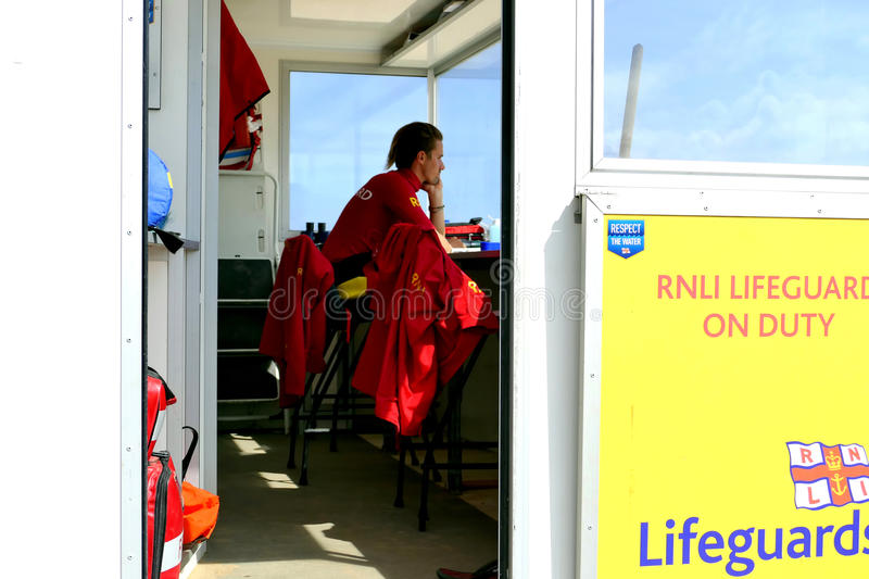 RNLI Lifeguard. stock photo