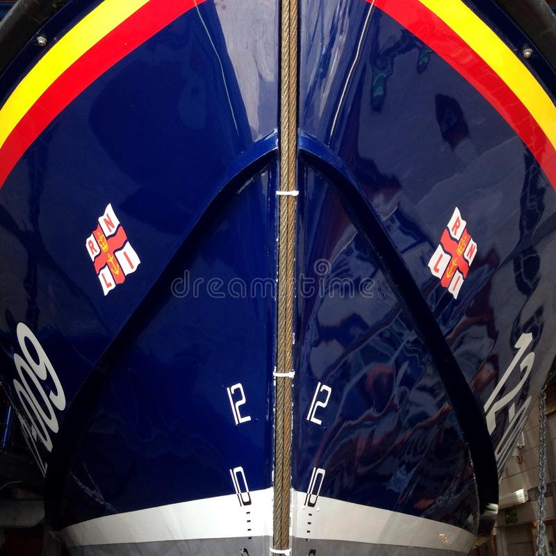 RNLI-reddingsboot bij St Ives Harbour royalty-vrije stock fotografie