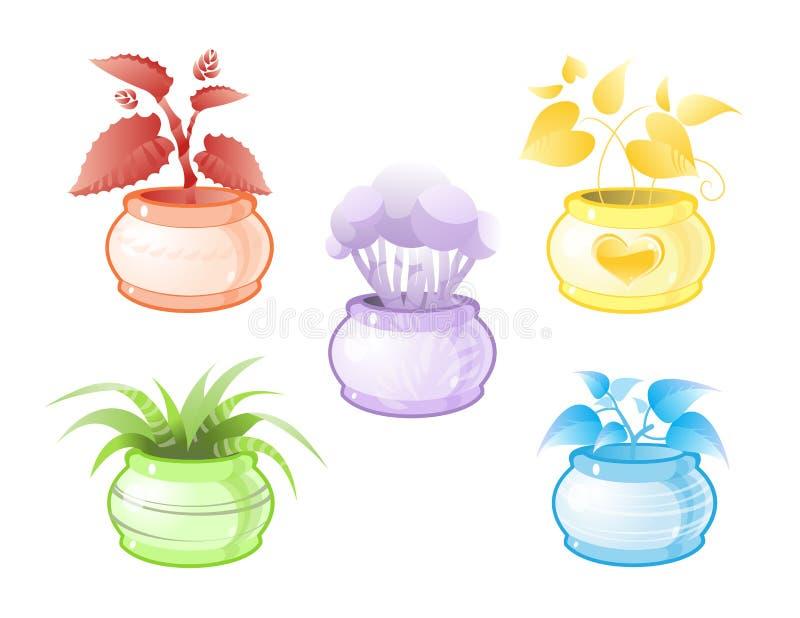 roślina dekoracyjny garnek zdjęcia stock