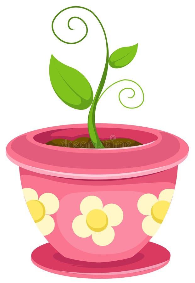 roślina garnek royalty ilustracja