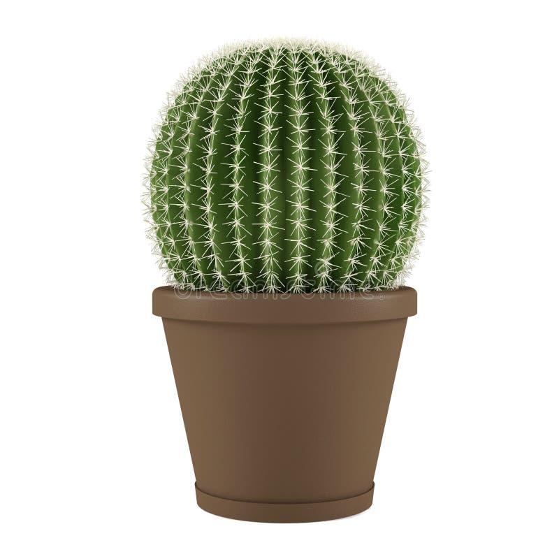 Roślina odizolowywająca. Kaktusowy grusoni w garnku ilustracja wektor