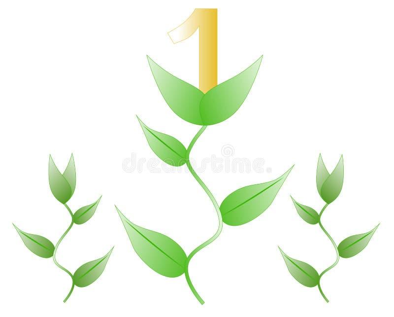 Roślina z numerowy jeden royalty ilustracja