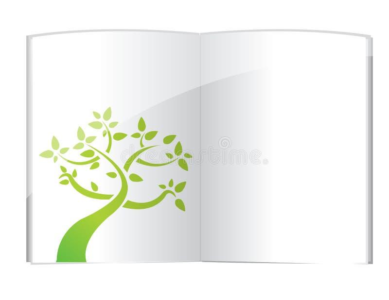 Rośliny dorośnięcie od otwartej książki royalty ilustracja