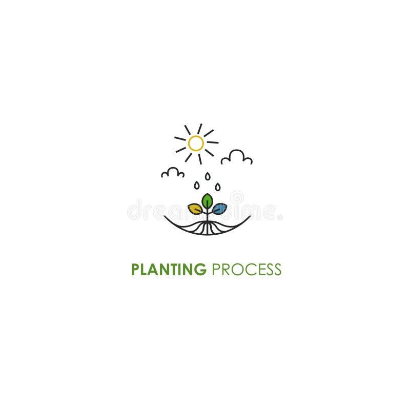 Rośliny flancy znak Ekologii środowiska symbol ilustracja wektor
