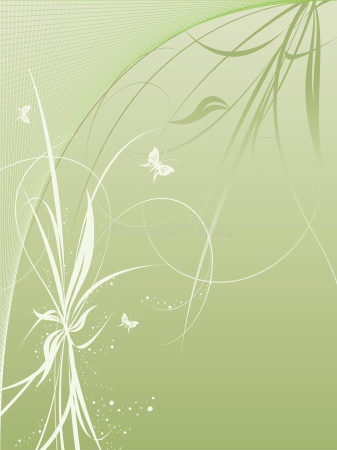rośliny motyla wektorowe tło ilustracja wektor