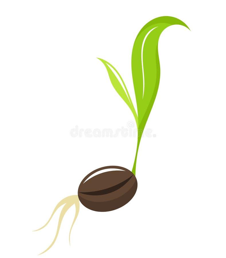 rośliny nowonarodzona rozsada royalty ilustracja