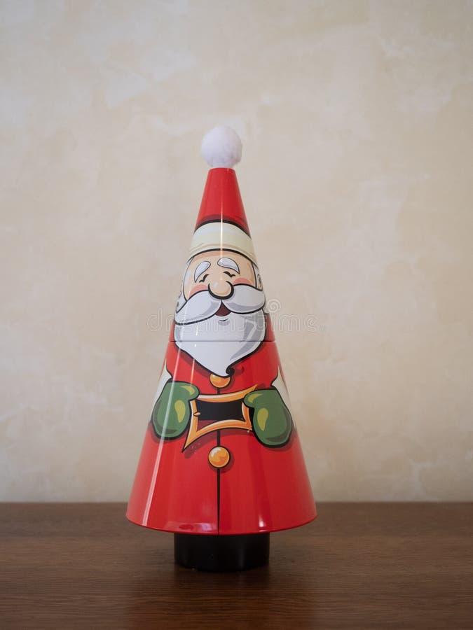 Rożek kształtująca Święty Mikołaj cyna obraz royalty free