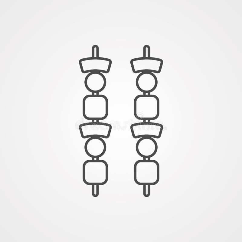 Rożenek ikony znaka wektorowy symbol royalty ilustracja