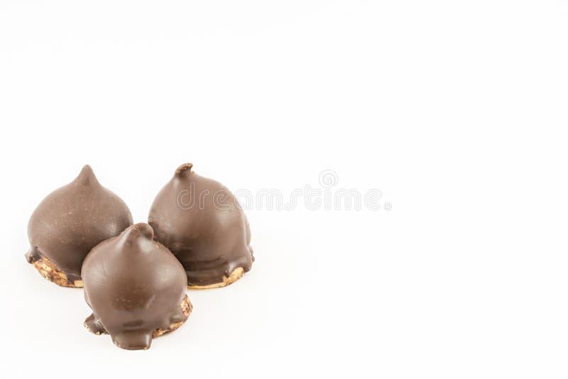 Rożki cukierki i czekolada obrazy stock