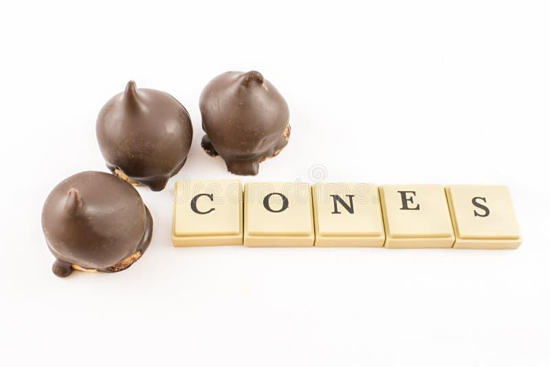 Rożki Dulka De Leche i czekolada zdjęcia stock
