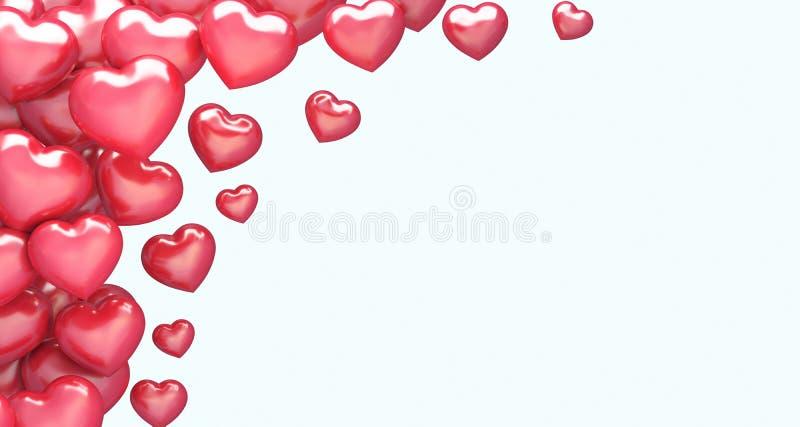 Rożny Czerwony serca tło zdjęcie royalty free