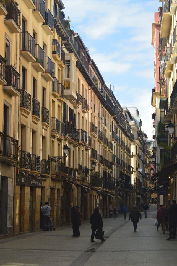 31ro August Street San Telmo Kalea en San Sebastián Naturaleza del viaje de la arquitectura imagenes de archivo