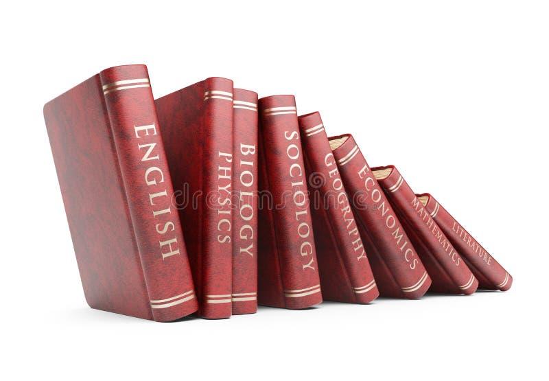 Ro av bokar. Utbildningsbegrepp. symbol 3D vektor illustrationer