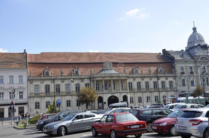 RO cluj-Napoca, 24-ое сентября: Здание дворца Banffy в cluj-Napoca от области Трансильвании в Румынии стоковая фотография rf