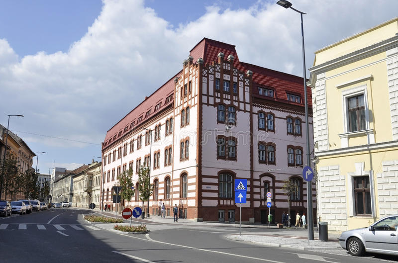 RO de Cluj-Napoca, o 24 de setembro: Detalhes da construção histórica em Cluj-Napoca da região da Transilvânia em Romênia foto de stock royalty free