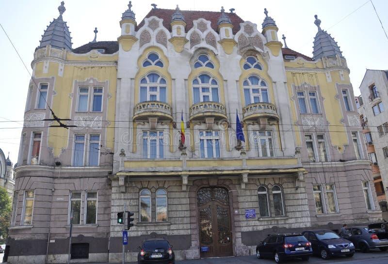 RO de Cluj-Napoca, o 24 de setembro: Detalhes da construção histórica em Cluj-Napoca da região da Transilvânia em Romênia fotografia de stock