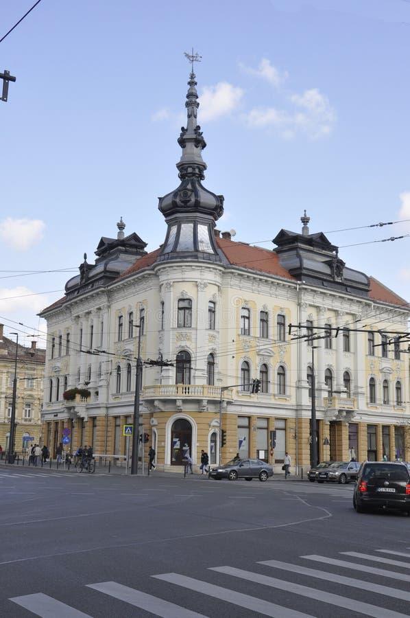 RO de Cluj-Napoca, o 24 de setembro: Palácio de New York em Cluj-Napoca da região da Transilvânia em Romênia fotos de stock royalty free