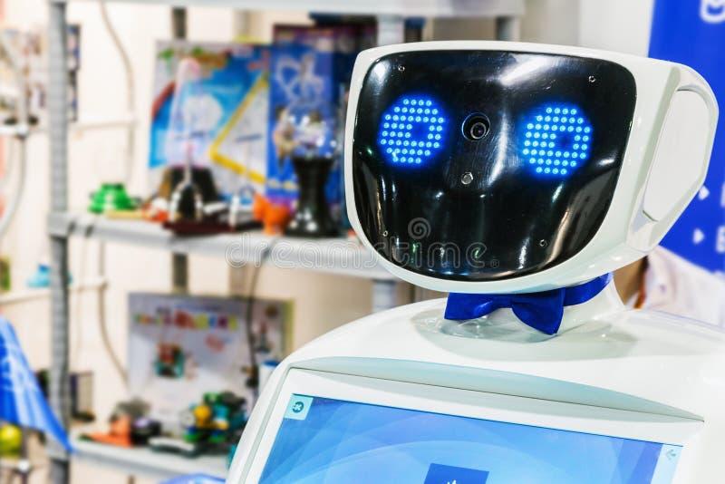 3ro exposición internacional de la robótica y del technologi avanzado fotos de archivo